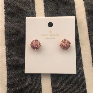 Rose Gold and pink sparkle studs
